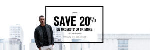 20% Off $100 - Foot Locker - Online Only