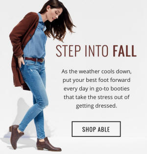 STEP INTO FALL - SHOP ABLE